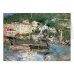 El puerto, Niza por Morisot, impresionismo del vin Felicitaciones