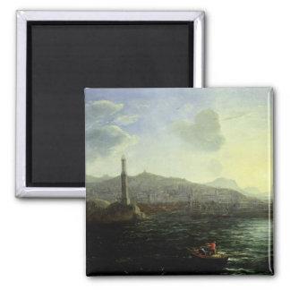 El puerto opinión de Génova, mar Imán Cuadrado