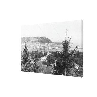 El puerto Townsend, tubería de la opinión de WA ac Impresión En Lienzo Estirada