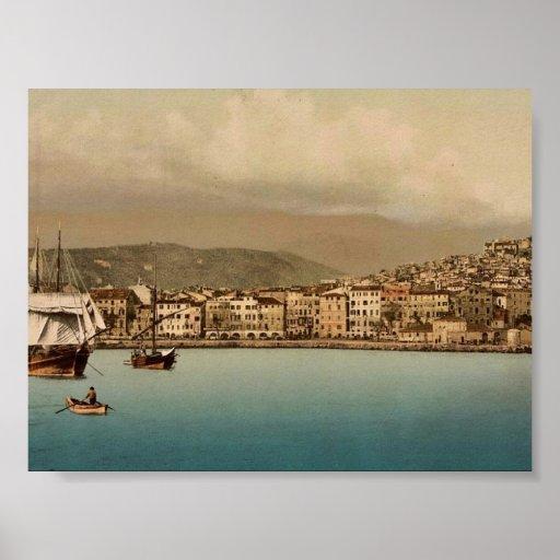 El puerto, vintage Photochrom de San Remo, Riviera Impresiones
