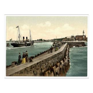 El puerto, Warnemunde, Rostock, Mecklenburg-Schwer Postal
