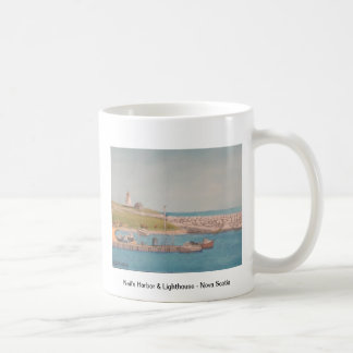 El puerto y faro - Nueva Escocia de Neil Taza De Café