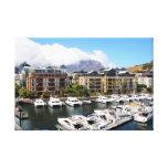 El puerto y los sus barcos de Cape Town en Impresiones En Lona