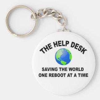 El puesto de informaciones - ahorro del mundo llavero redondo tipo pin