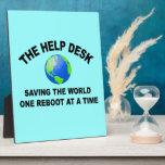 El puesto de informaciones - ahorro del mundo placa para mostrar