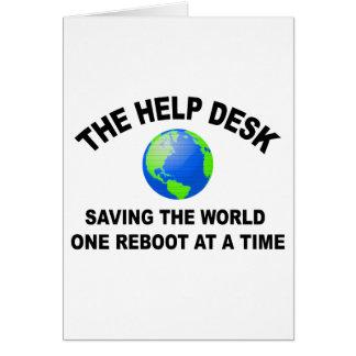 El puesto de informaciones - ahorro del mundo tarjeta de felicitación