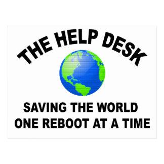 El puesto de informaciones - ahorro del mundo tarjetas postales
