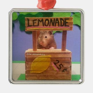 El puesto de limonadas de Baloo Adorno Navideño Cuadrado De Metal