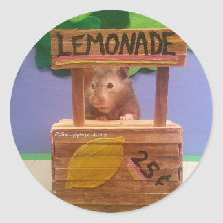 El puesto de limonadas de Baloo Pegatina Redonda