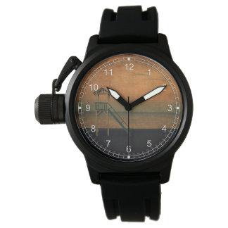 El puesto de observación reloj de mano