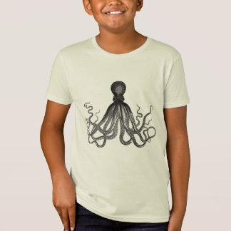 El pulpo embroma la camiseta orgánica polera