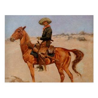 El Puncher de Federico Remington (1895) Tarjeta Postal