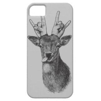 El punk de los ciervos ilustró la caja del teléfon iPhone 5 protectores