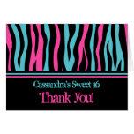 El punk lindo del estampado de zebra le agradece e felicitación