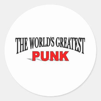 El punk más grande del mundo pegatinas redondas