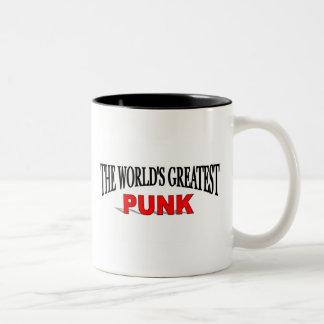El punk más grande del mundo taza de dos tonos