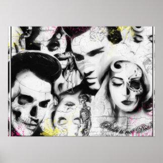 El punk no es impresión muerta póster