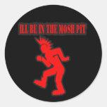 El punk rock Mosh danza de golpe moshing del hoyo Pegatina Redonda
