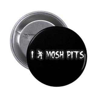 El punk rock Mosh hoyo punky del golpe de la músic Pin Redondo De 2 Pulgadas