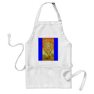 El puntal de los leones delantal