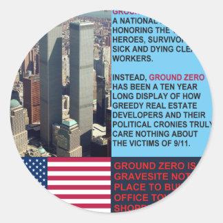 El punto cero es un Gravesite no una alameda de Pegatina Redonda