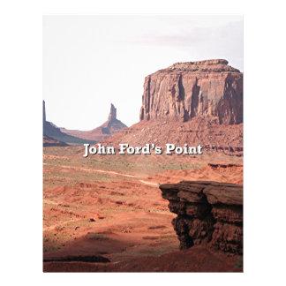 El punto de John Ford, valle del monumento, Utah Membrete A Diseño