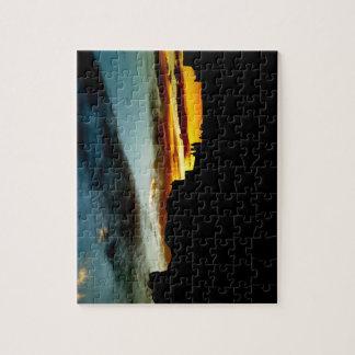 El punto de vista de las montañas de la sal del La Puzzle