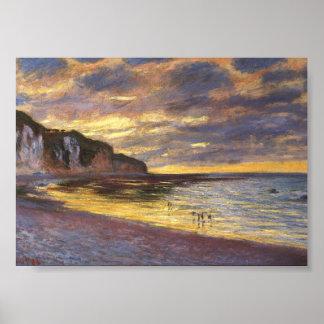 El punto del aliado, marea baja - Claude Monet Poster