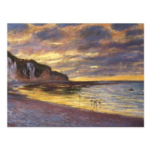 El punto del aliado, marea baja - Claude Monet Postal