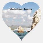 El punto en Cabo San Lucas Calcomanías De Corazones