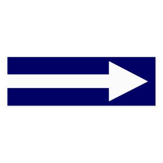 El punto entero II - azul marino y blanco Tarjetas De Visita Mini