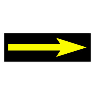 El punto entero - negro y amarillo tarjetas de visita mini