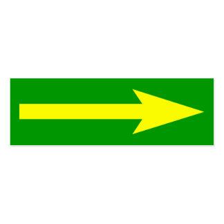 El punto entero - verde, amarillo y gris tarjetas de visita mini