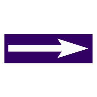 El punto entero - violeta y blanco oscuros tarjetas de visita mini