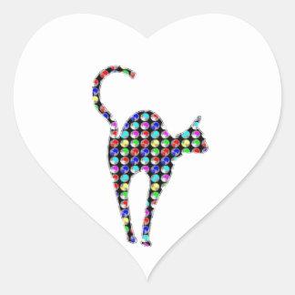 El punto LINDO pintó el animal de mascota del CAT Pegatina Corazón Personalizadas