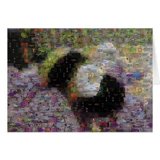 El punto manosea la tarjeta del mosaico de la