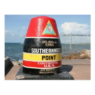 El punto más situado más al sur de Estados Unidos, Postal