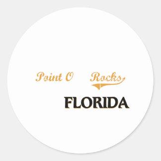 El punto O oscila la obra clásica de la Florida Pegatinas Redondas