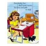 El punto retro del kitsch de las mujeres del postal