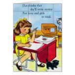 El punto retro del kitsch de las mujeres del vinta tarjetas