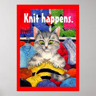 El punto sucede poster que hace punto del gato lin