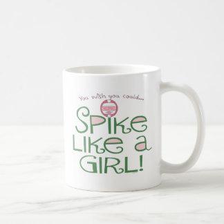 El punto tiene gusto de un chica taza