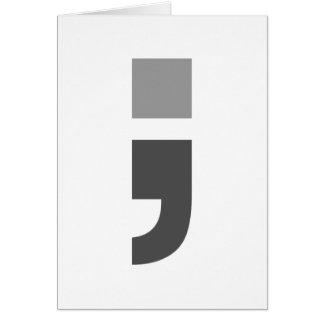 El punto y coma versátil tarjeta de felicitación