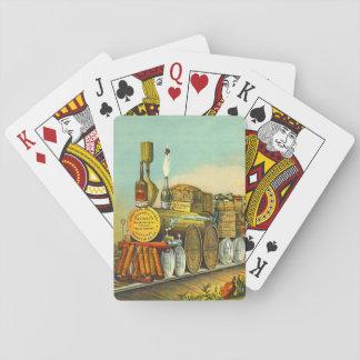 El puré amargo expresa 1877 baraja de póquer