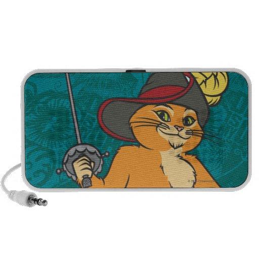 El Puss Brandishes la espada iPod Altavoces