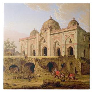 El Qal A-l-Kuhna Masjid, Purana Qila, Delhi, c.1 Azulejo Cuadrado Grande