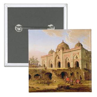 El Qal A-l-Kuhna Masjid, Purana Qila, Delhi, c.1 Pin Cuadrada 5 Cm