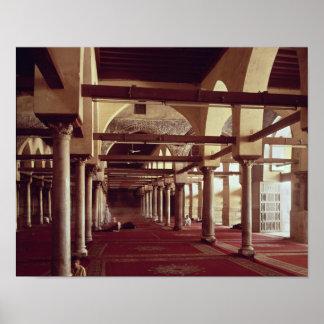 El Qibla Liwan de la mezquita del al-Azhar Póster