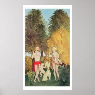 El Quartet feliz, 1902 (aceite en lona) Póster