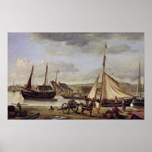 El Quay del comerciante en Ruán, 1834 Poster